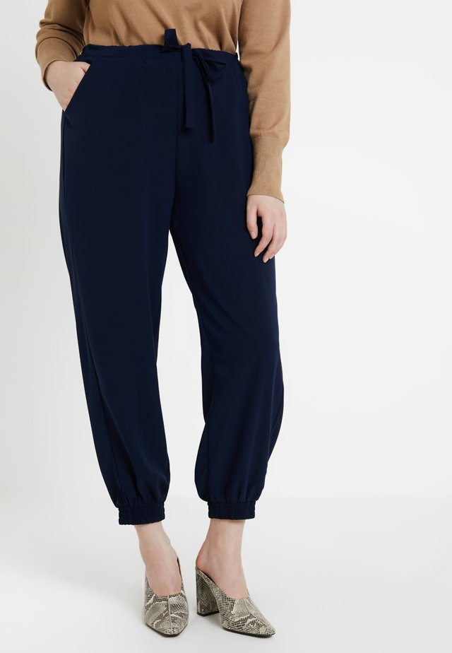 WOVEN JOGGER - Trousers - navy blue