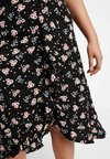 Gabrielle by Molly Bracken - FLORAL PRINT WRAP SKIRT - Falda acampanada - black