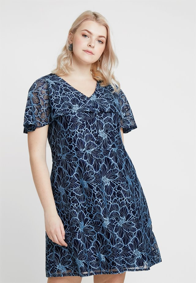 CONTRAST DRESS - Cocktail dress / Party dress - navy blue