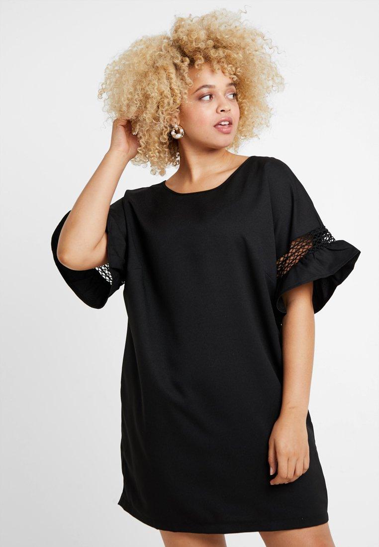Gabrielle by Molly Bracken - LADDER TRIM SHIFT DRESS - Denní šaty - black