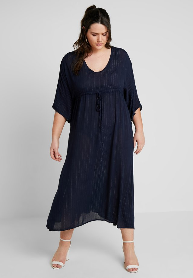 CHANNEL WAIST DRESS WITH DETAIL - Maxikjole - navy blue