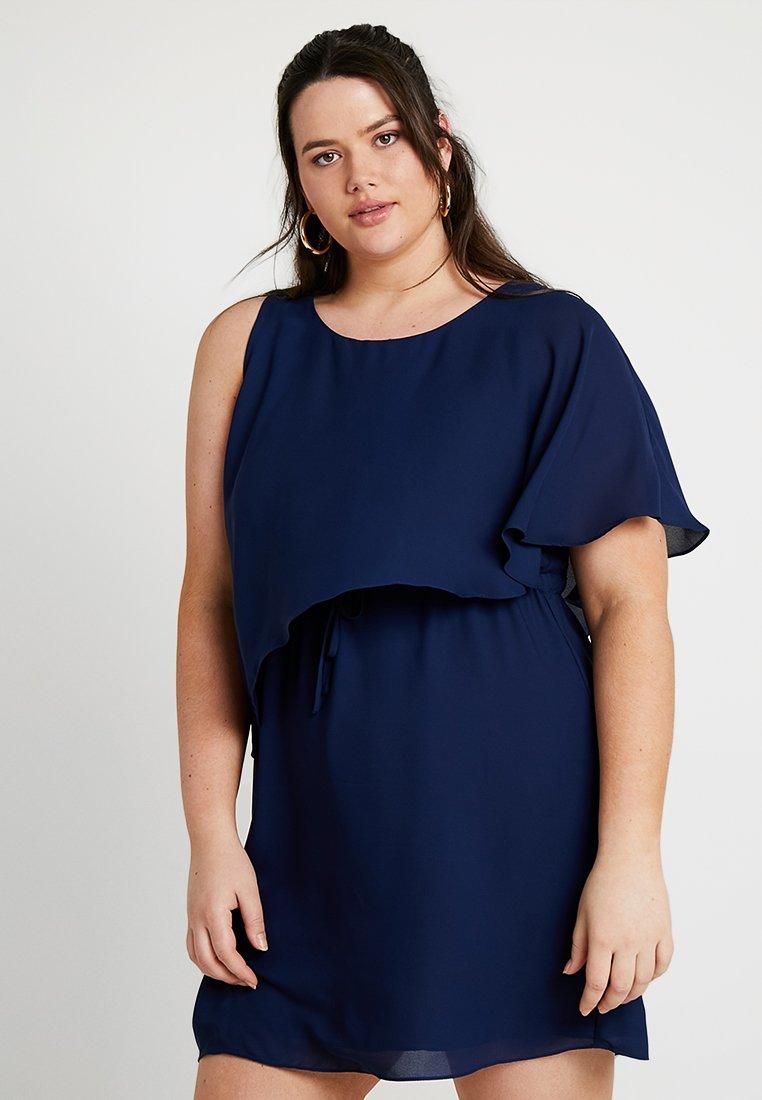 Gabrielle by Molly Bracken - ONE SHOULDER GATHERED WAIST DRESS - Cocktailjurk - navy blue