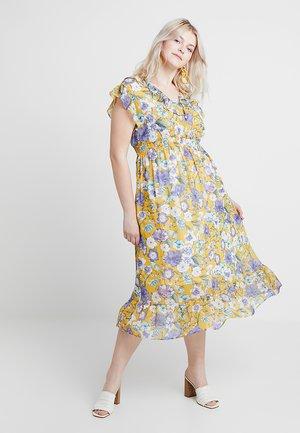 FLORAL DRESS - Denní šaty - saffron yellow