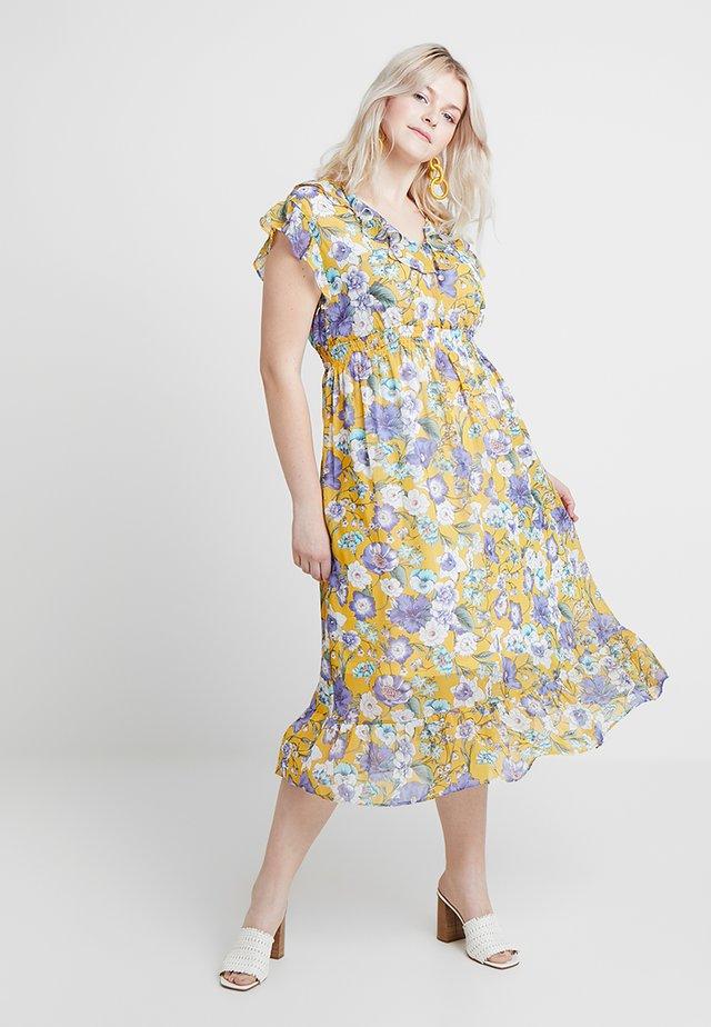 FLORAL DRESS - Vardagsklänning - saffron yellow