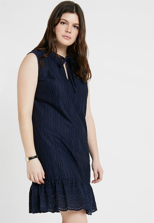 DROP HEM SLEEVELESS DRESS - Korte jurk - navy blue