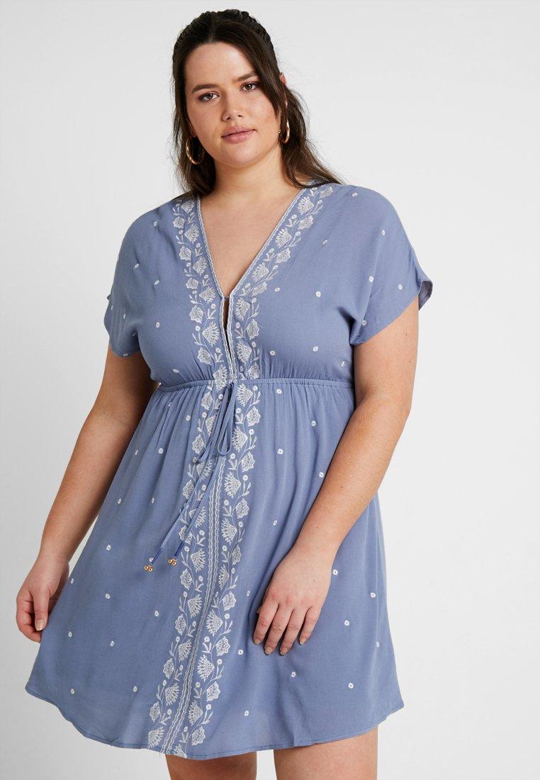 Gabrielle by Molly Bracken - EMBROIDERED CHANNEL WAIST DRESS - Freizeitkleid - blue