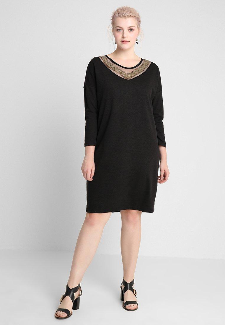 Gabrielle by Molly Bracken - LADIES DRESS - Pletené šaty - black