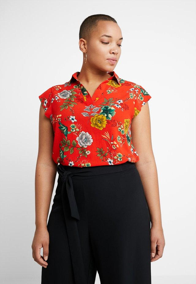 FLORAL PRINT BLOUSE - Blouse - red