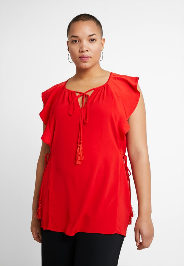 TASSLE DETAIL BLOUSE - Bluser - red