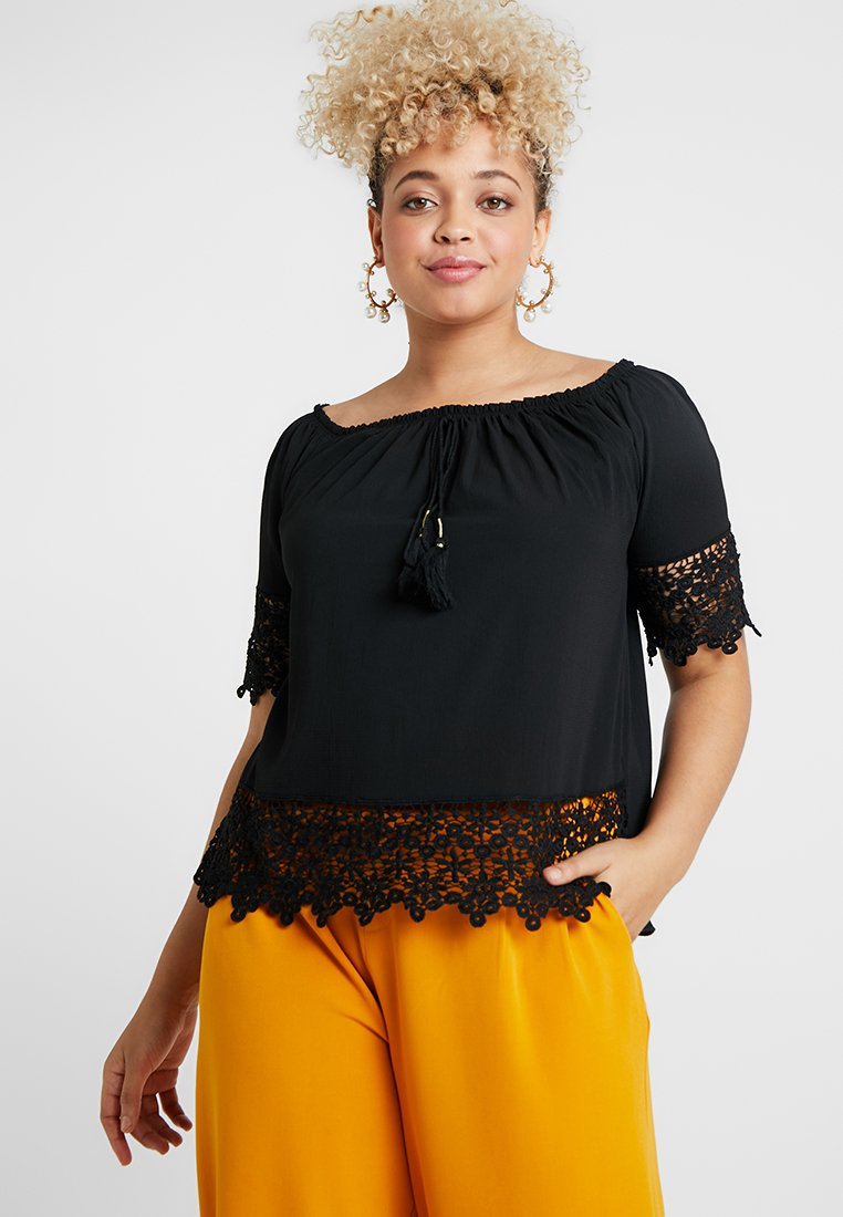 Gabrielle by Molly Bracken - TRIM BARDOT - Blouse - black