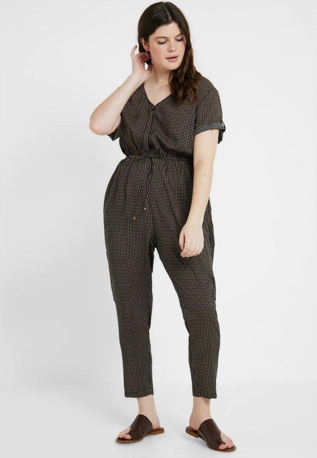 PRINTED CHANNEL WAIST - Overall / Jumpsuit /Buksedragter - black