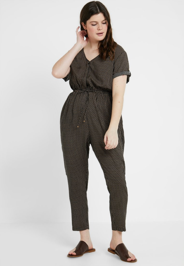 Gabrielle by Molly Bracken - PRINTED CHANNEL WAIST - Jumpsuit - black
