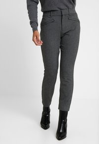 GAP Petite - SKINNY TEXTURE - Bukse - grey heather/white - 0