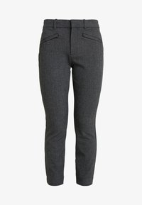 GAP Petite - SKINNY TEXTURE - Bukse - grey heather/white - 4