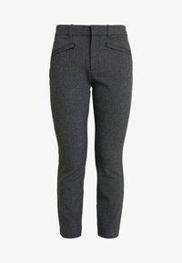 GAP Petite - SKINNY TEXTURE - Pantalon classique - grey heather/white - 4