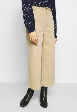 WIDE LEG SOLID - Relaxed fit jeans - khaki