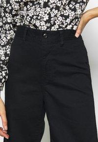 GAP Petite - WIDE LEG SOLID - Trousers - true black - 4