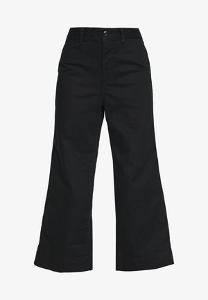 WIDE LEG SOLID - Jeans relaxed fit - true black