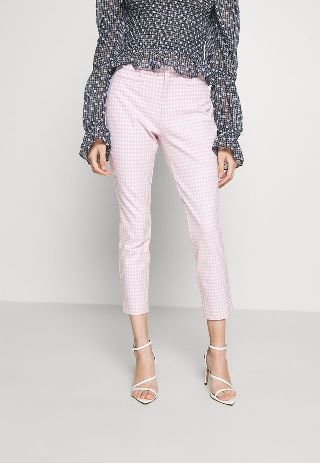 ANKLE BISTRETCH  - Broek - pink gingham