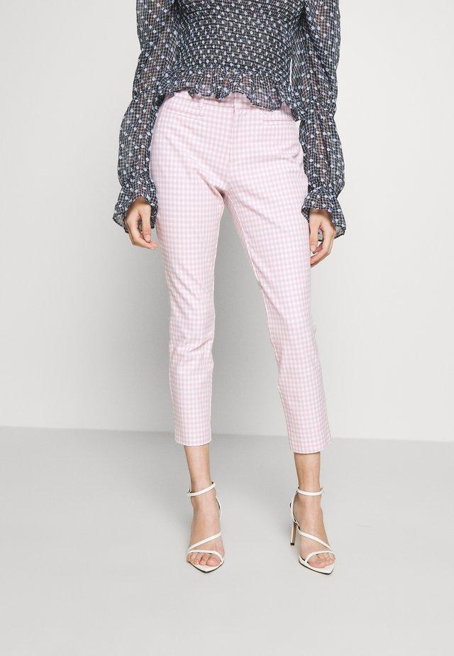 ANKLE BISTRETCH  - Kalhoty - pink gingham