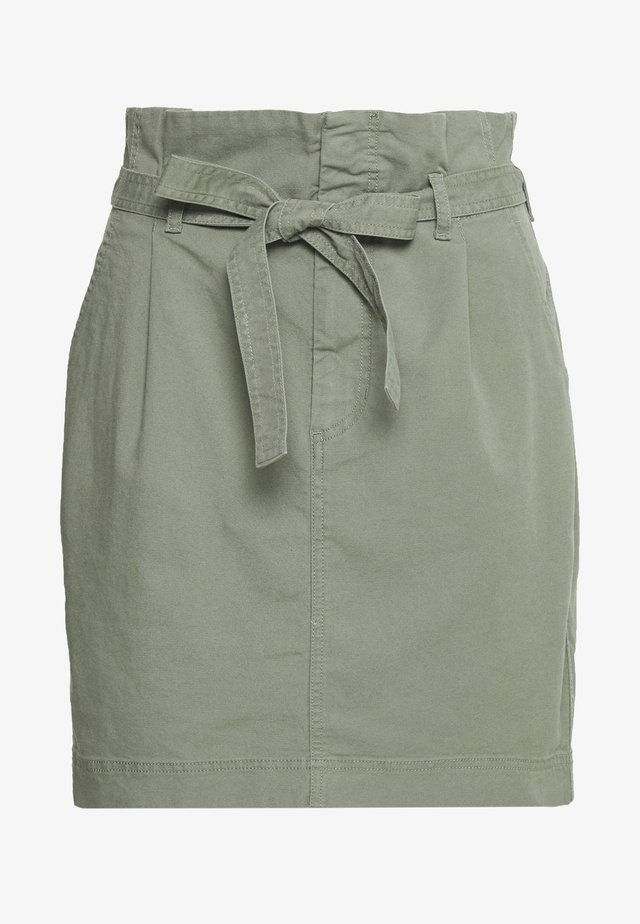 PAPERBAG SKIRT - Spódnica mini - douglas fir