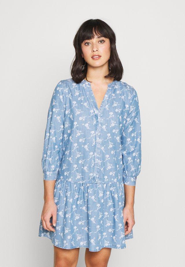 Korte jurk - indigo print