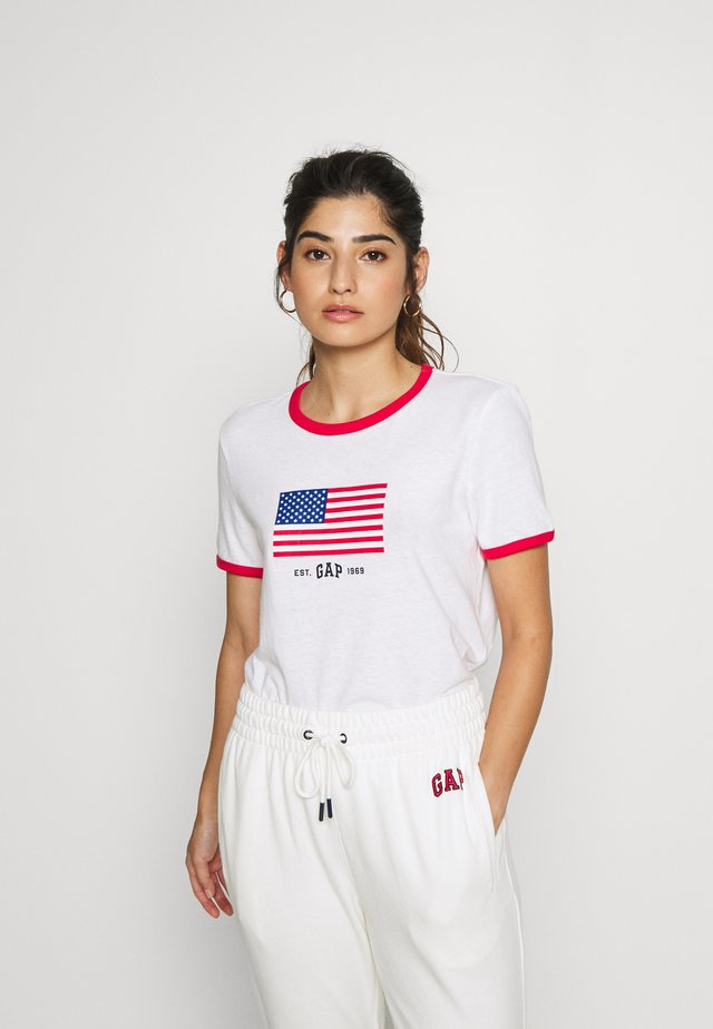 AMERICANA TEE - T-shirt med print - fresh white