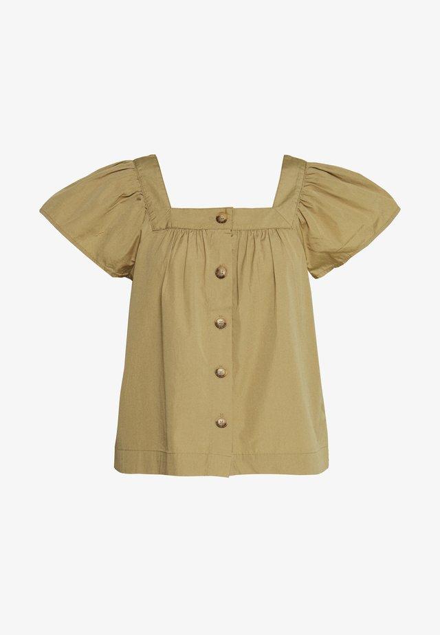 Bluse - khaki