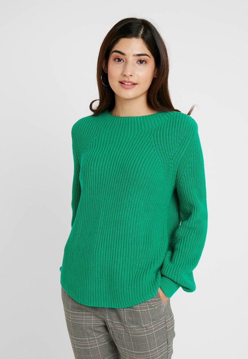 GAP Petite - SHAKER CREW - Jersey de punto - deluxe green