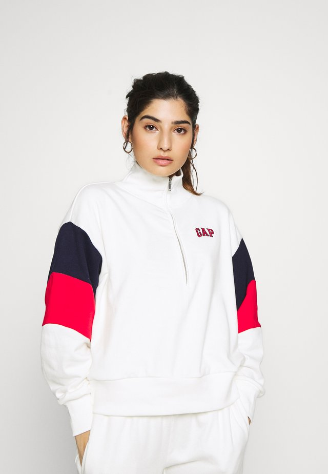 USA HALF ZIP - Felpa - milk 600 global