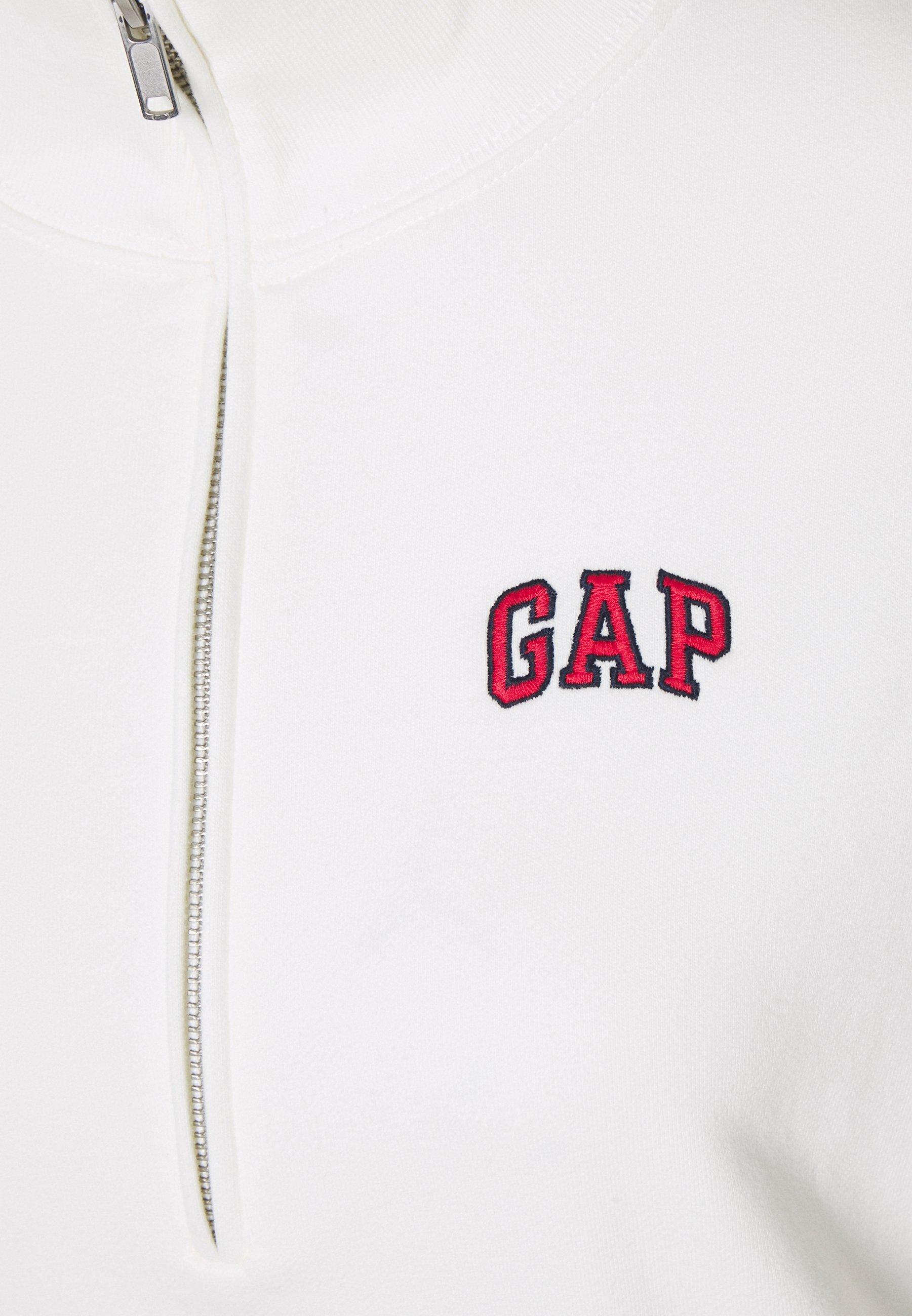 GAP Petite USA HALF ZIP Sweatshirt off white ZALANDO.FR