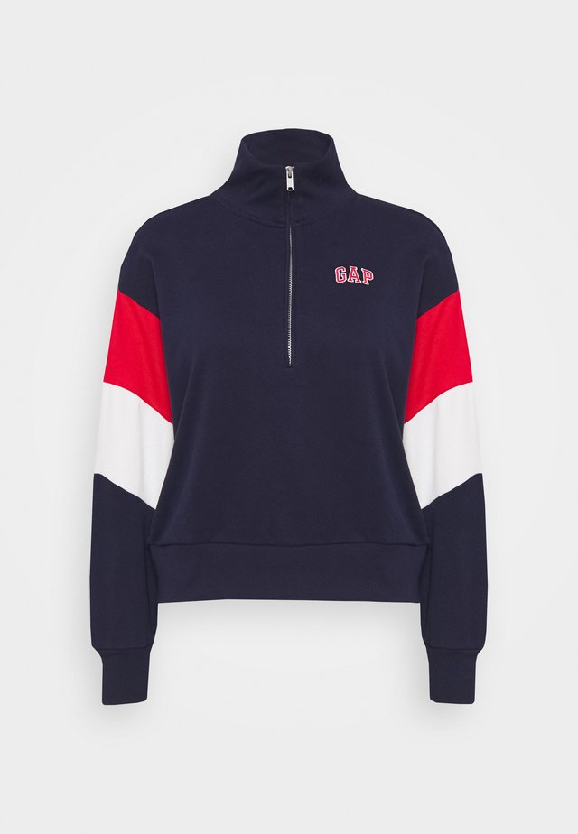 USA HALF ZIP - Sweatshirt - navy uniform