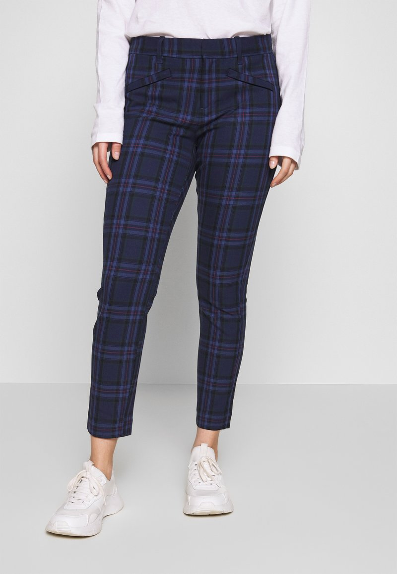 GAP Petite - SKINNY ANKLE BISTRETCH - Chino - blue plaid combo