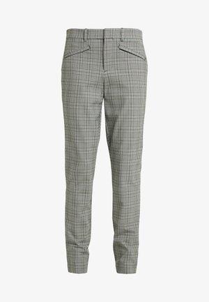 ANKLE PLAID TECHY - Pantalon classique - black