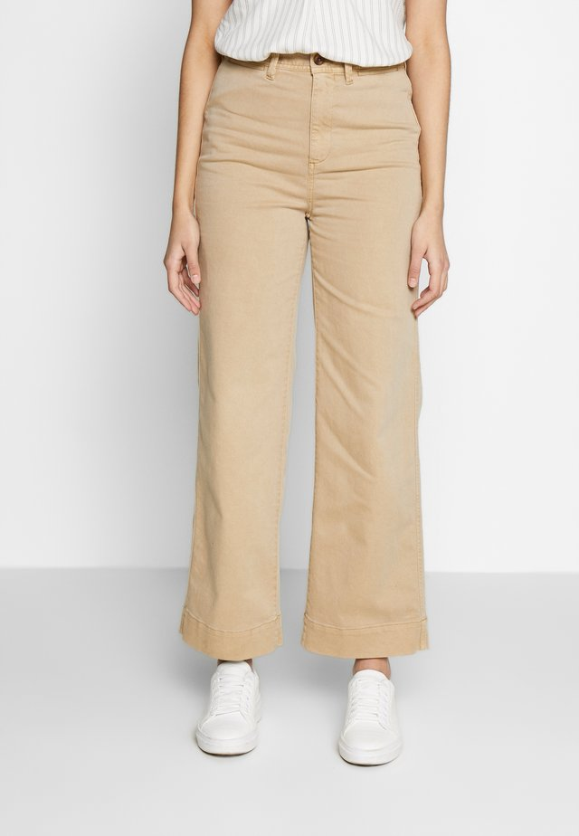 WIDE LEG - Chinosy - khaki