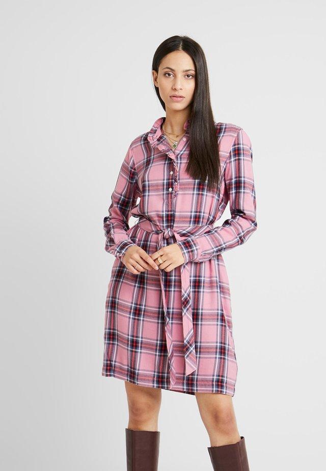 HENLY - Shirt dress - pink combo