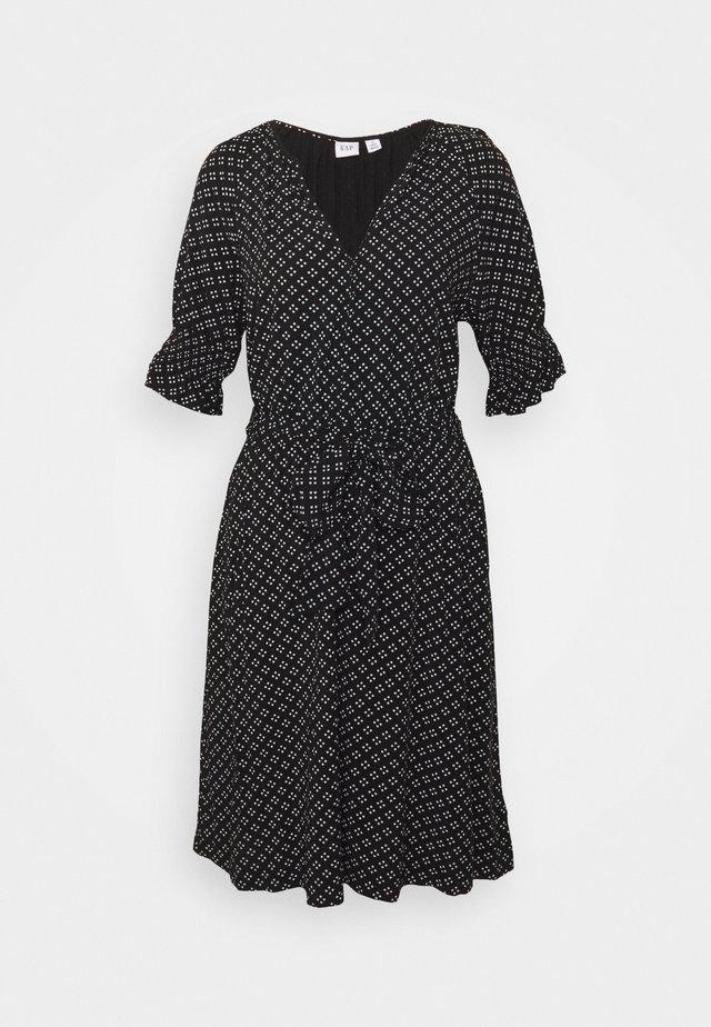 TIE WAIST - Sukienka letnia - black