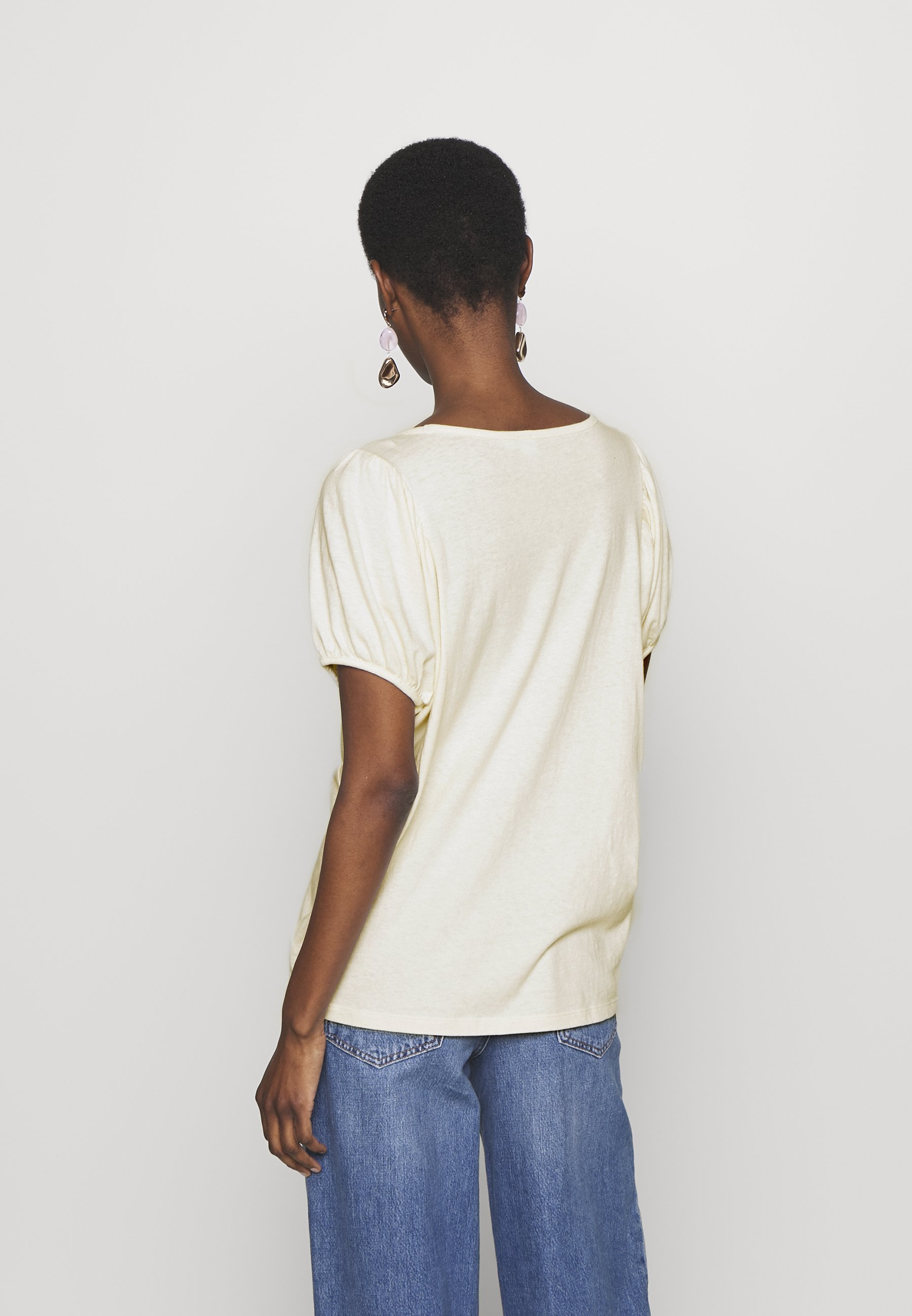 Gap Tall - T-shirts Med Print Ivory Frost