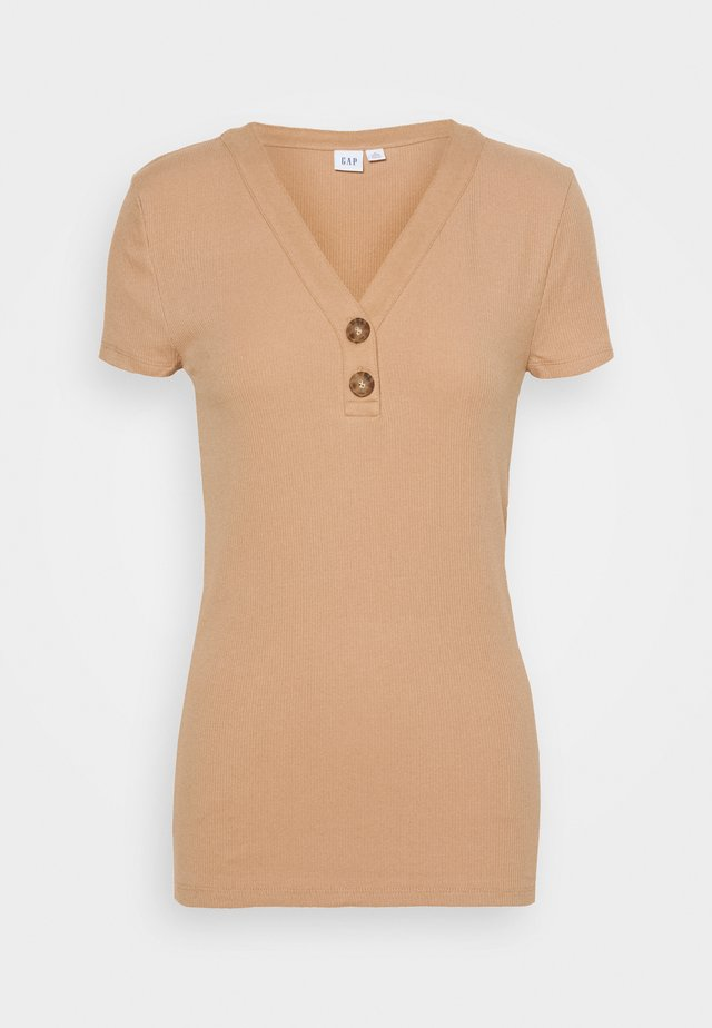 T-shirt basic - desert tan