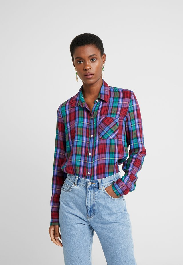 DRAPEY PLAID - Button-down blouse - purple combo