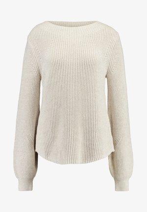 SHAKER CREW - Stickad tröja - marled oatmeal heather