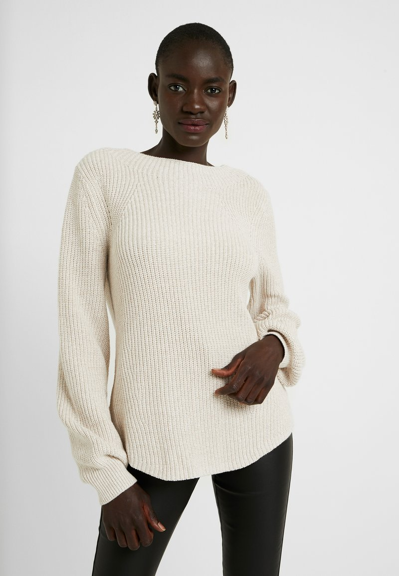 Gap Tall - SHAKER CREW - Pullover - marled oatmeal heather
