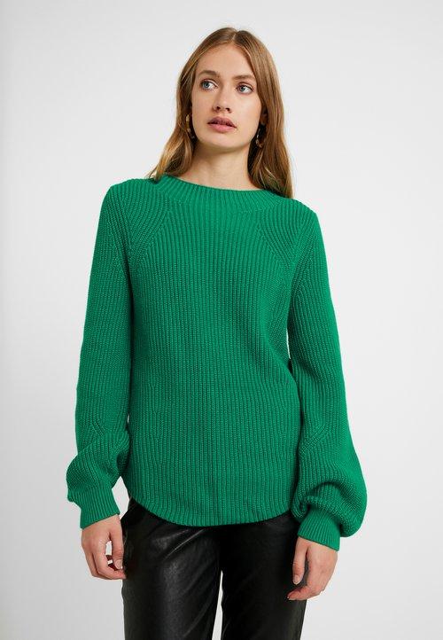 dobry Gap Tall SHAKER CREW - Sweter - deluxe green Odzież Damska ZVNI-EJ1