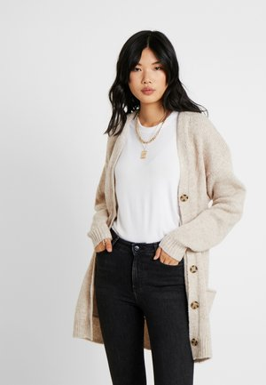DROP TALL - Cardigan - oatmeal heather