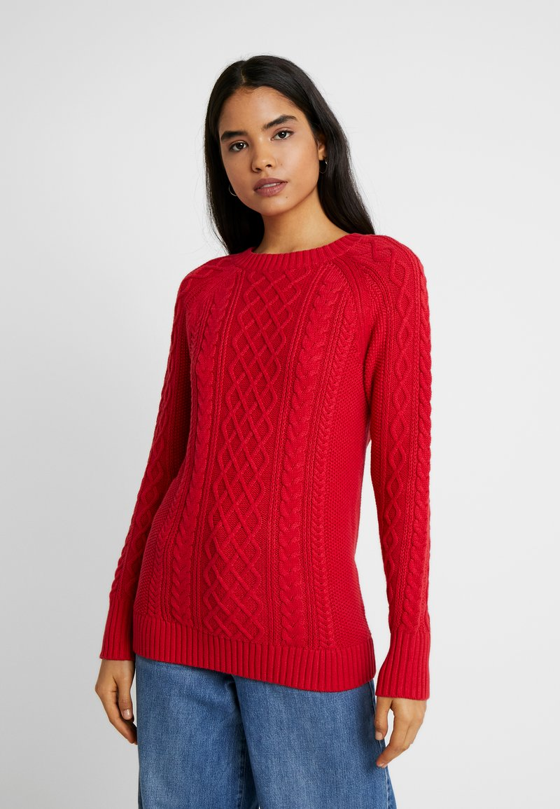 Gap Tall - CABLE CREWNECK - Svetr - red