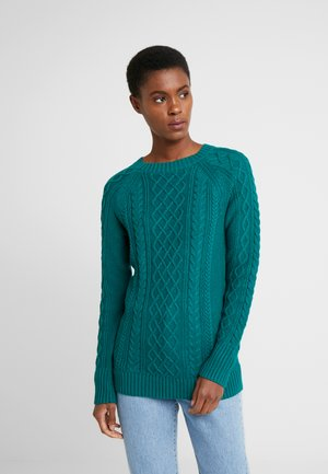 CABLE CREWNECK - Pullover - jewel green