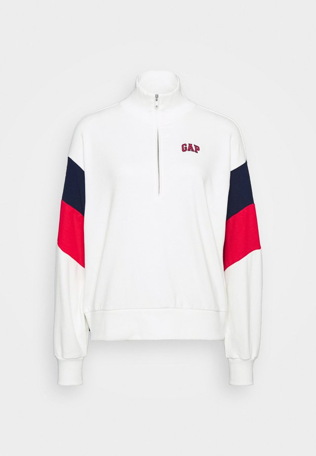 USA HALF ZIP - Sweatshirt - off white