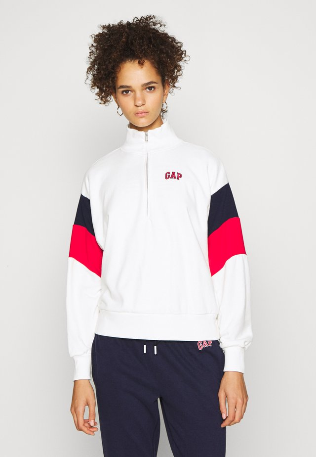 USA HALF ZIP - Mikina - off white