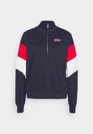 USA HALF ZIP - Sweatshirt - dark blue