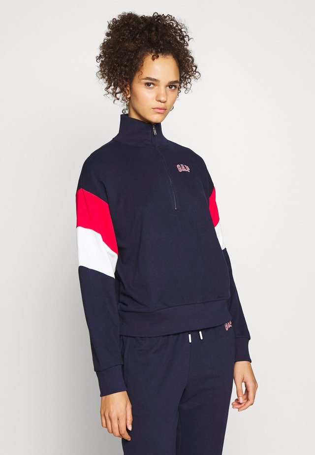 USA HALF ZIP - Mikina - dark blue